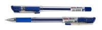 Ручка гелевая 0,5 мм Pentek E-Gel грип прозрачная синие чернила антибактериальная 504644